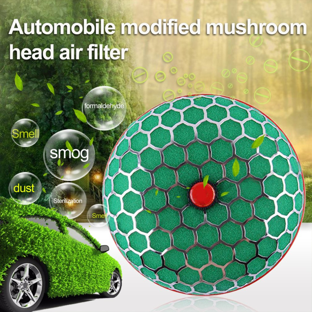 New 100mm Automobile Modified Mushroom Head Universal Car Air Filter High Flowing Air Intake System Reloaded Cleaner
