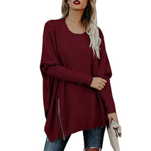 цена на female sweaters autumn basic women sweaters knitted cold shoulder hollow out batwing sleeve slash neck harajuku  plus size