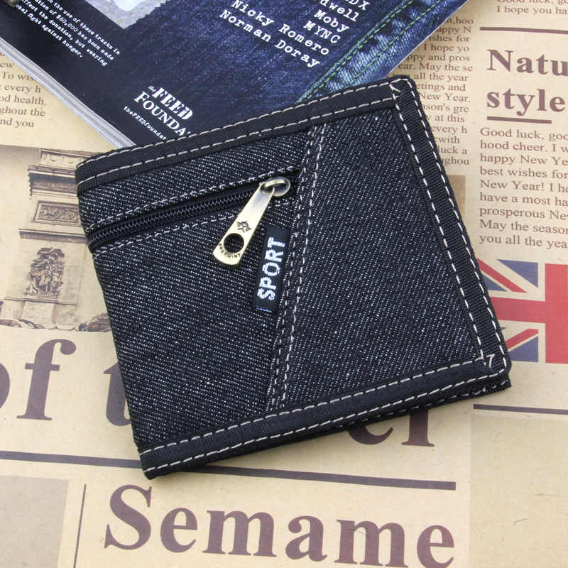 8f571f952817 Detail Feedback Questions about 2019 Men Denim Wallet Fashion Coins Purse  Small Short Card Holders Purse For Male And Female Carteira Denim on ...