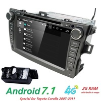 android7.1 car dvd player For Toyota corolla 2007 2008 2009 2010 2011 in dash 2 din 1024*600 car radio gps video head unit 2GRAM