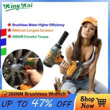 360N/M 16800mah 9800mah 1/2 Brushless Torque Cordless  Hilti Electric Bort Power Tools Lithium Battery Car Impact Wrench