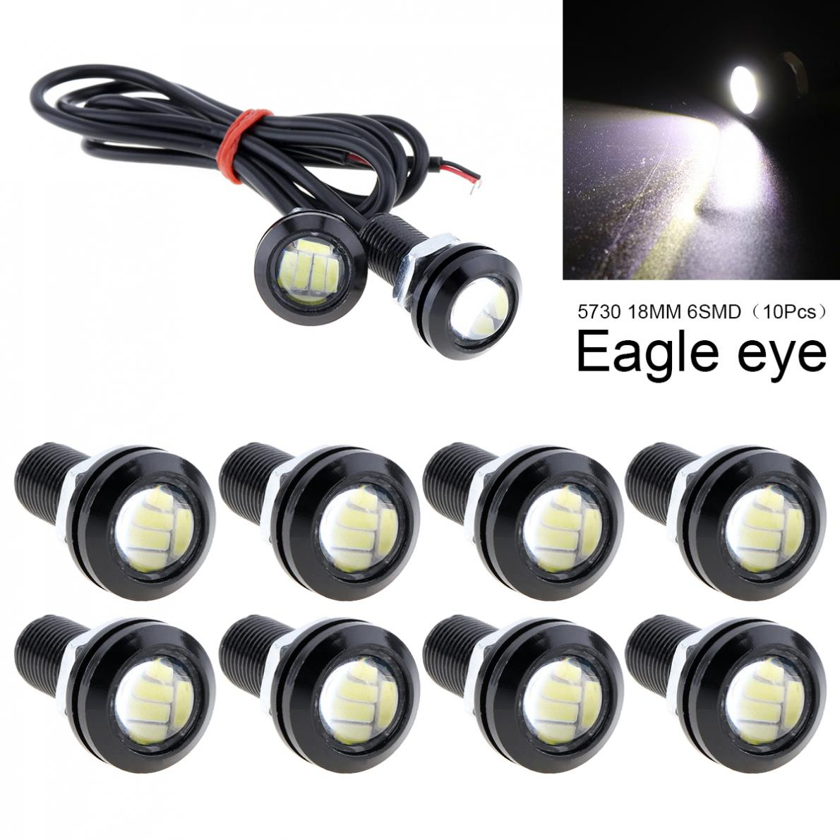 10pcs/lot 12V 18mm 4014 SMD LED Eagle Eye Light High Power Auto Fog DRL Bulb Corner Stop Tail Reverse Backup Parking Signal Lamp