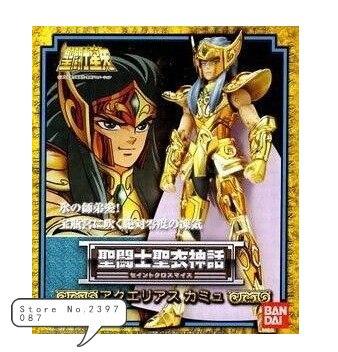 Bandai Japanese version of Saint Seiya 1.0 Old version Gold Saint Aquarius Camus metal myth high quality gold soul saint seiya ex gold saint aquarius bottle camus model toys