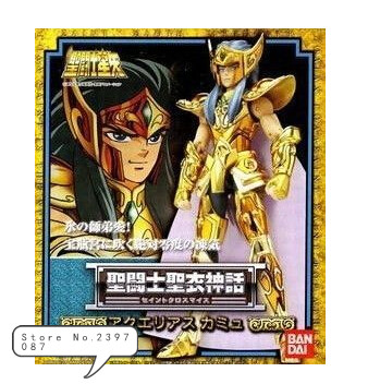 Bandai version japonaise de Saint Seiya 1.0 ancienne version or Saint verseau Camus métal mythe