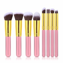 8pcs professional makeup brushes tools set pinceis de maquiagem organizer use wood metal nylon  palette for makeup brush