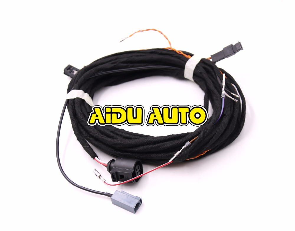popular rear wiring harness buy cheap rear wiring harness lots oem rear view camera reversing logo camera cable wire harness for vw passat b8
