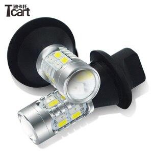 Image 2 - Tcart P21W drl turnlight Per KIA Sportage K5 k2 K3 K3S Forte Anima Optima RIO LED DRL e Indicatori di direzione Anteriori segnali di luce tutto in uno