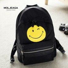 Moljeaga Новинка 2017 года девочки-подростки, мини-нейлон Рюкзаки фирменный дизайн молодых людей досуг мешки водонепроницаемый школьная сумка черный, фиолетовый