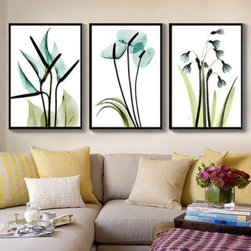 Simple style orchid floral Digital Painting Handpainted Oil Painting by numbers Triptych oil paintings Home Decoration MK119