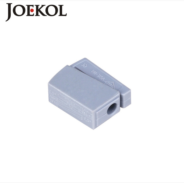 (100pcs/lot) Single 1 pin cable wire connecting for lamp JK-101(wago 224-101) cable connectors