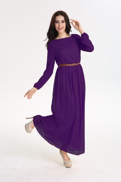 a57eb4d2f114 New women slim muslim women dress purple summer dresses long sleeve Islamic  abaya muslim female prayer robes