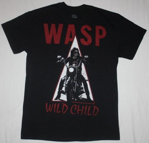W.A.S.P.WILD CHILD85 WASP HEAVY METAL BAND TWISTED SISTER NEW BLACK T-SHIR