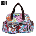Women Handbag 2015 New Fashion Printing Waterproof Nylon Shoulder Messenger Bags Casual Women Bag Size 31*22*11.5cm YA0337