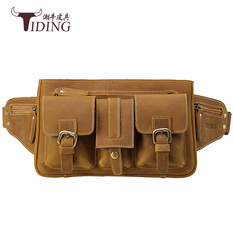 men waist bags real leather brand new 2017 man fashion solid brown casual travel business crossbody bags male waist bag men crossbody bags 2017 new real leather business man dress fashion brand casual vintage small shoulder bags male crossbody bag