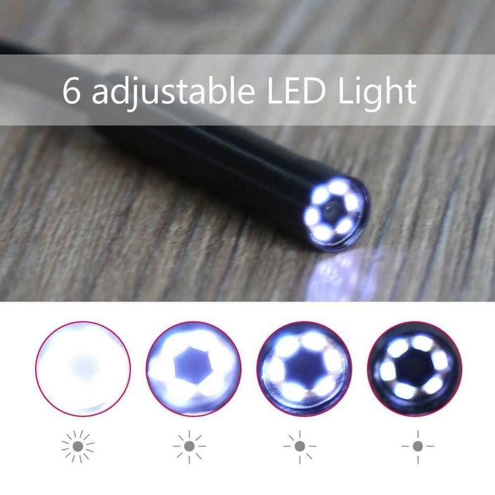 2 in 1 USB Endoskop Kamera Für Smartphone Schlange USB Inspektion Boroskop Auto Ohr Erkennung 7,0mm 6 led 2 m 5 m 10 m Kabel Länge