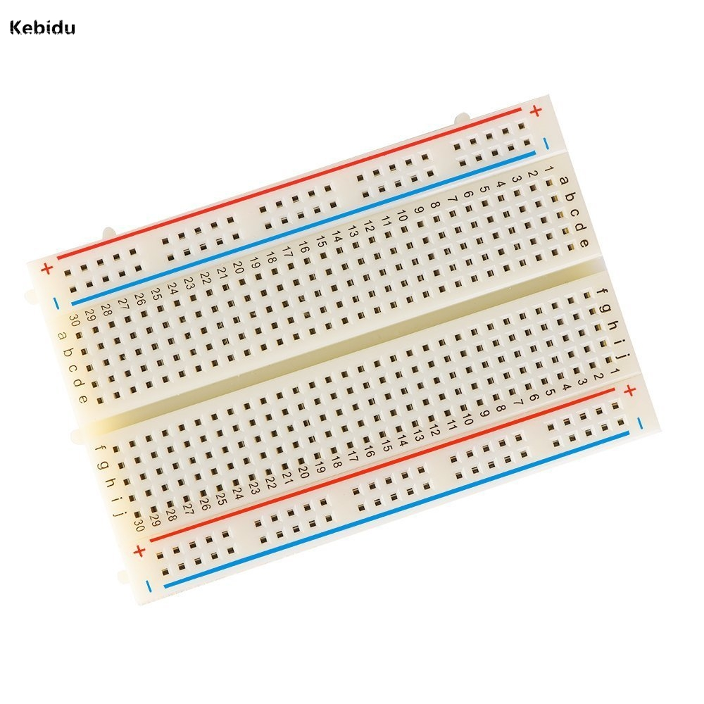 Kebidu Mini Solderless Breadboard 400 Points Prototype Bread Circuit Board Experiment Test Diy For Bus Mb102 In Computer Cables Connectors From