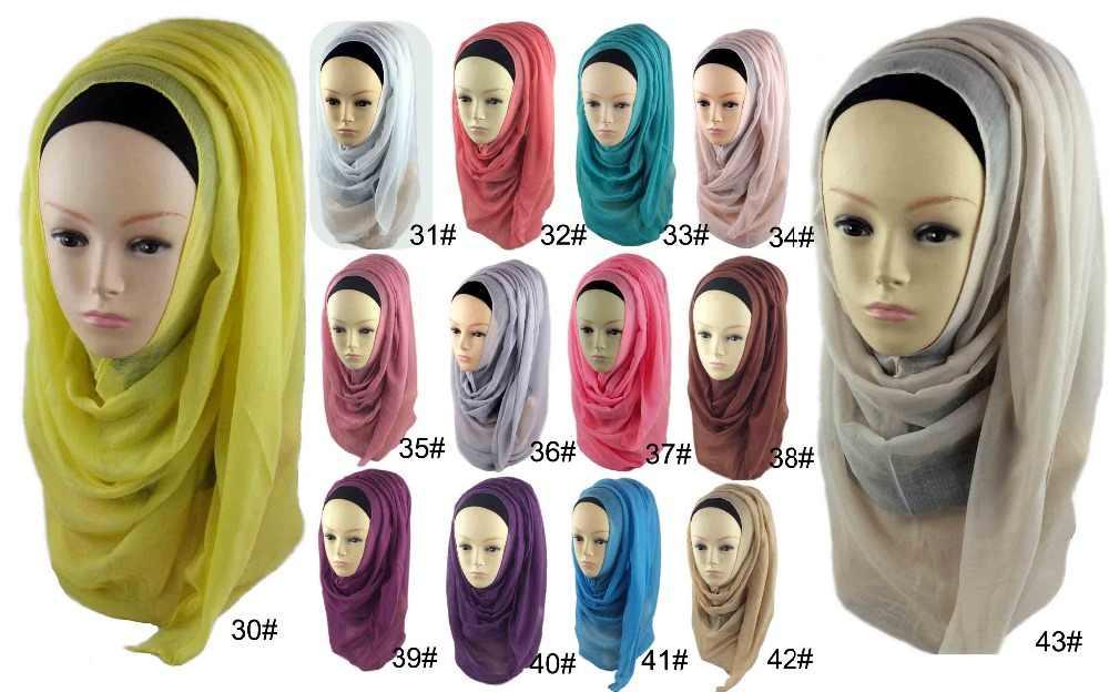 Musulmano islamico Pianura Oversize Maxi Sciarpa Scialle Hijab Wrap Sarong Scialle Viscosa Caftano Abaya veil donne possono scegliere 43 colori
