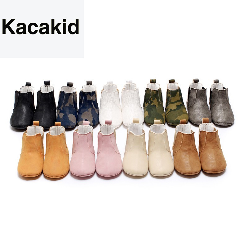 Baby Shoes Toddler Shoes PU Soft Soled Crib Shoes Infant Boy Girl First Walkers Prewalkers Winter Bottom Anti-Slip Ankle Boots