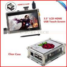 Pantalla Táctil de 3.5 pulgadas TFT LCD HDMI USB Raspberry Pi 480*320-1920*1080 Pantalla LCD de Audio con Pi3 Claro Caso para Raspberry Pi 2