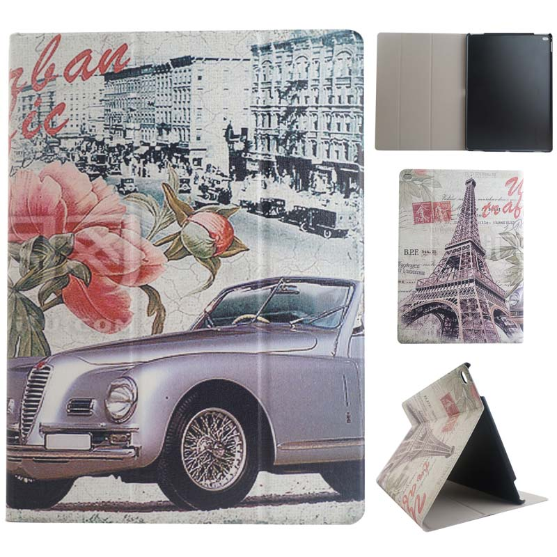 Ultra Slim Cartoon Print Stand PU Leather Skin Card Holder Protective Case Cover For Apple ipad pro 12.9 Tablet mediapad m3 lite 8 0 skin ultra slim cartoon stand pu leather case cover for huawei mediapad m3 lite 8 0 cpn w09 cpn al00 8