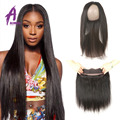 Brazilian Straight Hair With Frontal Closure 360 Lace Frontal Closure With Bundles Brazilian Virgin Straight Hair With Closure