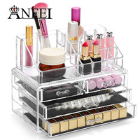Acrylic Cosmetic Organizer Drawer Makeup Case Storage Insert Holder Box Rangement Maquillage Jewelry Holder Best Gift