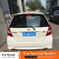 For Honda Fit Jazz Black Spoiler 2004 2005 2006 2007 High Quality ABS Material Car Rear Wing Primer Color Tail White Spoiler