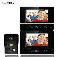 SmartYIBA 7 Inch Video Door Entry Phone Call System Video Doorbell Camera Intercom House Families Video Intercom