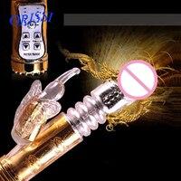 ORISSI Dorosłych Sex Zabawki Wibrator Królik Duża 12 Prędkości Złota Elastyczne Wbijając Wibrator G Spot Wibrator Sex Produkty dla Kobiet