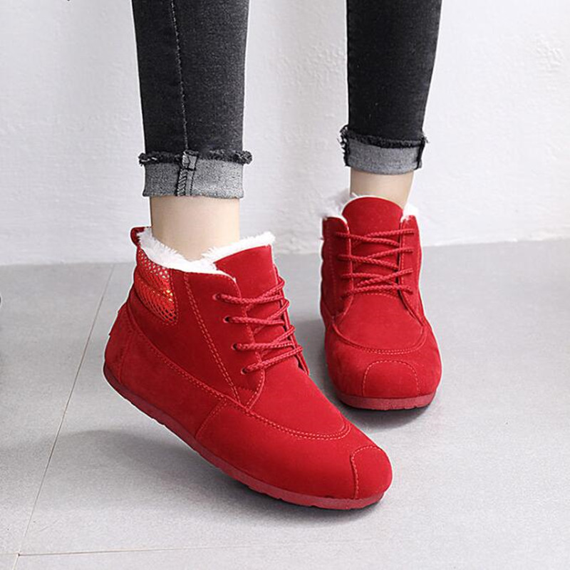 High Quality Women Boots Winter Casual Brand Warm Shoes Women Snow Boots Leather Plush Fur Fashion Boots Shoes Woman