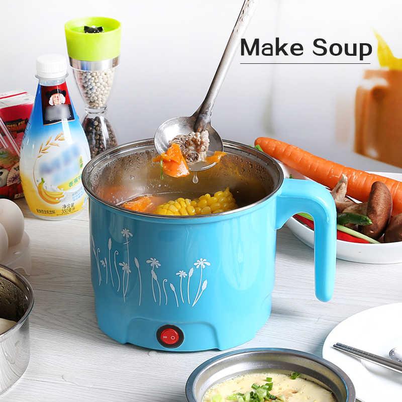 TINTON LIFE multifonction électrique poêle en acier inoxydable marmite nouilles cuiseur à riz cuit à la vapeur oeuf soupe Pot MINI casserole chauffante