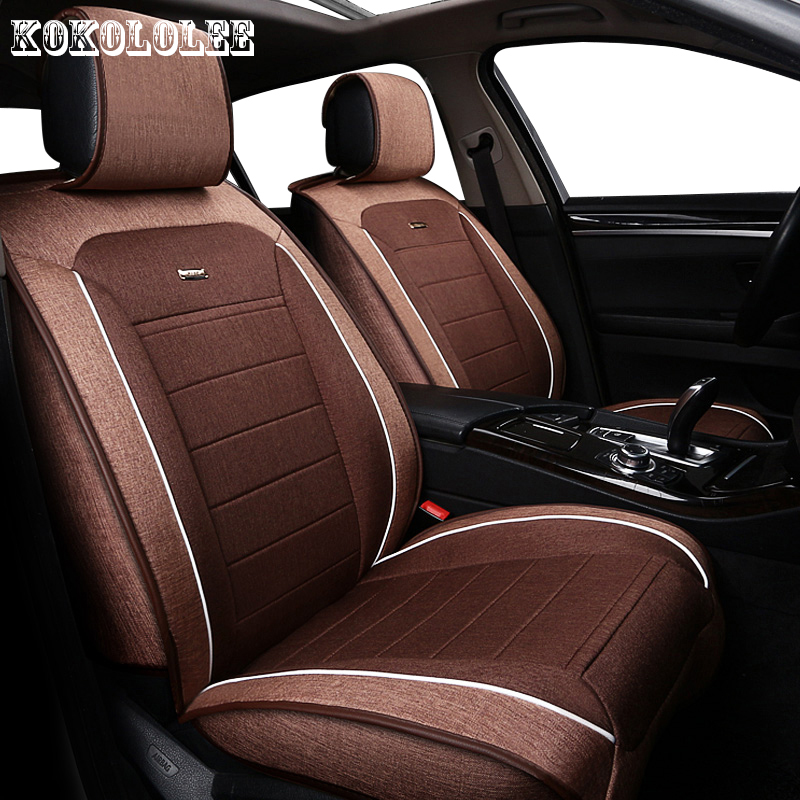 KOKOLOLEE Universal auto linen Car seat cover For BMW e30 e34 e36 e39 e46 e60 e90 f10 f30 x3 x5 x2 x1 f11 automobiles accessorie back seat covers leather car seat cover for bmw e30 e34 e36 e39 e46 e60 e90 f10 f30 x3 x5 x6 car accessories car styling