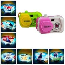 Цветная камера с изображением ранома, игрушка с проекцией для детей, цифровая камера, игрушка для фотосъемки, Детский обучающий пластиковый подарок для ребенка