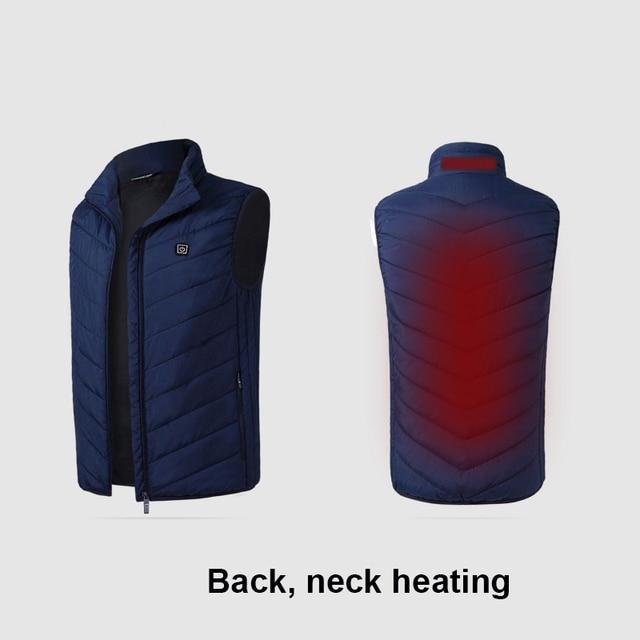 Electric USB Heated Vest Men Vest Waistcoat Woman Coat Feather Thermal Softshell Heated Jacket Nerf Vest Heating Gilet Chauffant 3