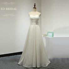 Simple Elegant A Line Sweetheart Floor Length Lace Wedding Dress Corset Back Bridal Wedding Gown robe de mariee