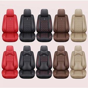 Image 5 - (Anteriore + Posteriore) speciale seggiolino auto Pelle copre Per Toyota Corolla Camry Rav4 Auris Prius Yalis Avensis SUV accessori auto auto
