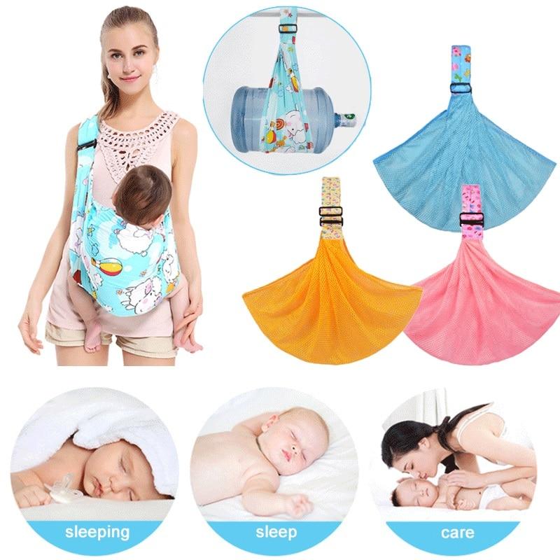 Newborn Baby Sling Carrier Ring Wrap Adjustable Soft Nursing Pouch Front Infant