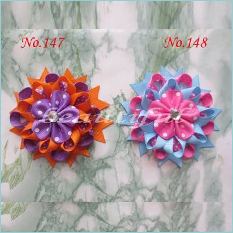 50 Good Girl Boutique 4.5 Inch Various Romantic Hair Bows Clip