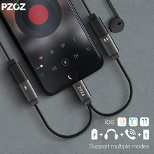 PZOZ for Lightning adapter charger audio cable 2 in 1 charging earphone double jack for iphone X 7 8 plus headphone music cabel