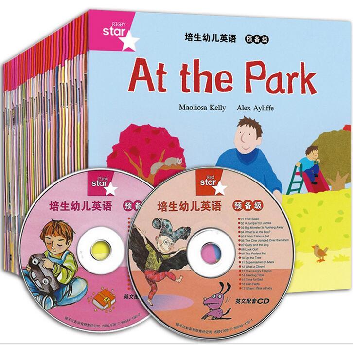 35 pcs lote cd2pcs imagem escola dos desenhos animados ingles livro de historia para criancas aprendendo