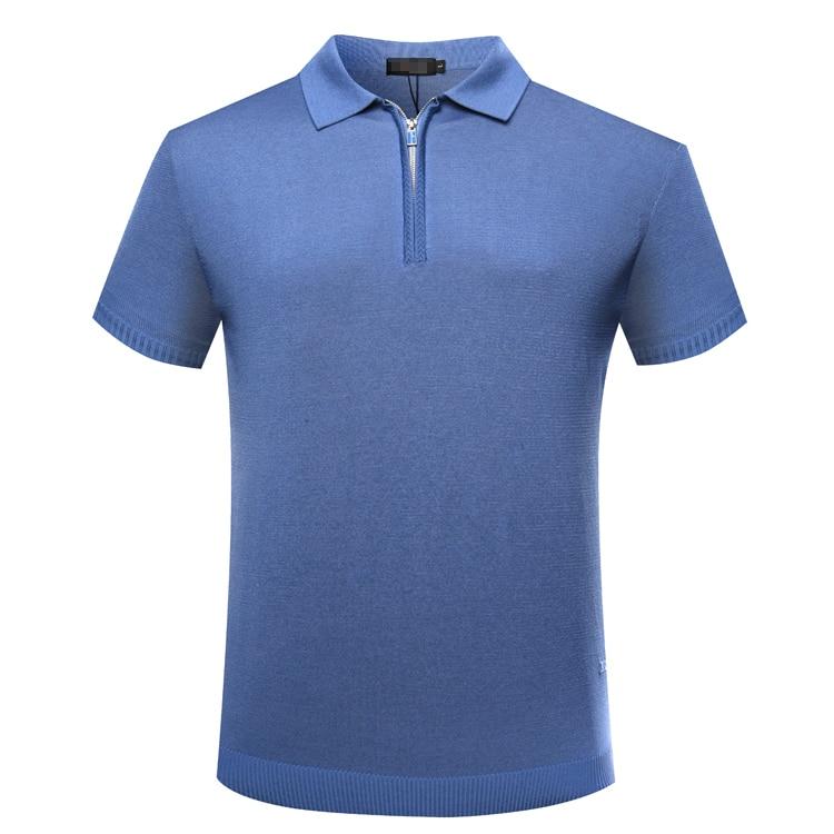 BILLIONAIRE TACE & SHARK t shirt mannen Korte 2018 zomer commerce comfort effen kleur vrij stof gentleman gratis verzending-in T-shirts van Mannenkleding op  Groep 1