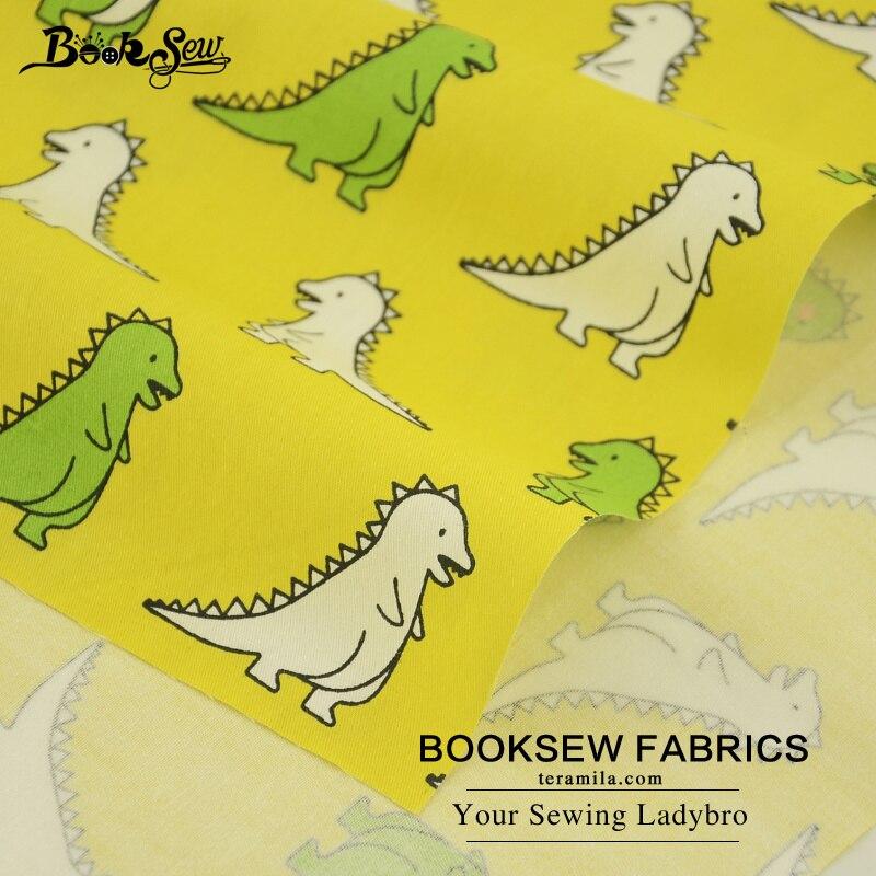 Booksew Gelb Quilten Tuch Baumwoll twill Stoff Dinosaurier Cartoon ...