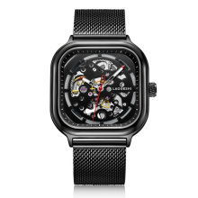 Fashion Square Mechanical Watch Men Top Luxury Brand Automatic Skeleton Watch Waterproof Big Dial Personality Watches New Xiaomi все цены