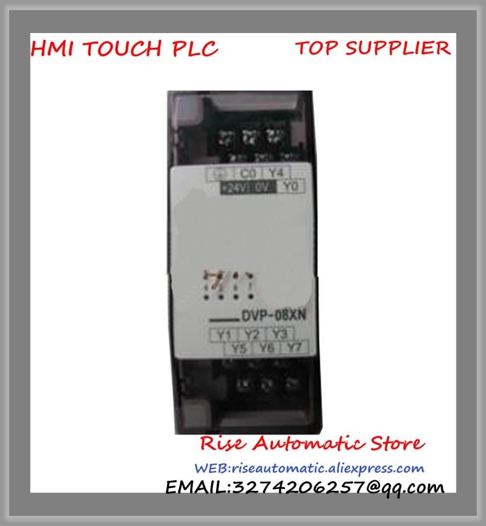 New Original Programmable Controller series Digital Extension Module 8-point 8DO NPN transistor DC power DVP08XN11T new original programmable controller plc 8do transistor pnp output digital module dvp08sn11ts