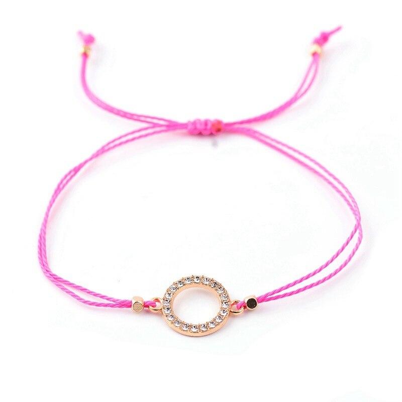 12 Pieces/Set Braided Adjustable Round Bracelet Anklet