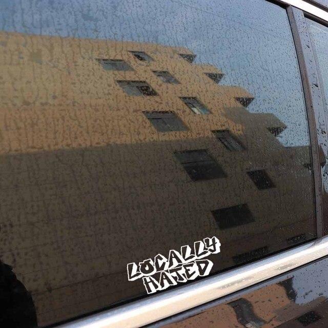 YJZT 13.4CM * 4.9CM localement détesté vinyle autocollant de voiture Diesel camion Boost Turbo noir/argent C3-0891