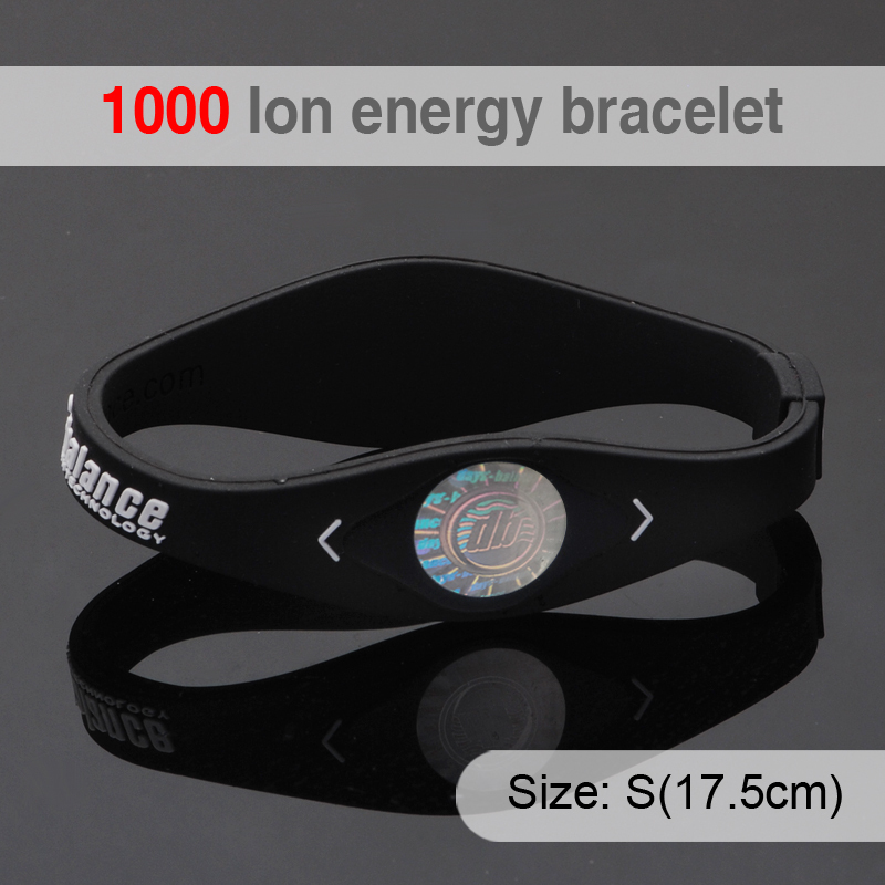 1000 Ion Bio Elements Energy Bracelet Silicone With Hologram Bracelets Bands Balance Wristband Retail In From