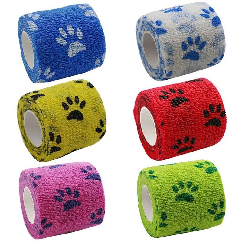 Outdoor  Bandage First Aid Kit Cartoon Adhesive Elastic Bandage Breathable Tape Colorful Pet Bandage