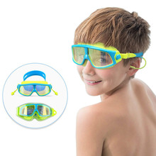 цена на Kids Swim Goggles Swimming Glasses with Waterproof Anti-fog Anti-UV Lens and Soft Silicone Strap for Children Teenagers 4 -15Yrs