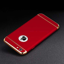For Apple iPhone 6 6s 6 Plus 5 5s SE Armor 360 Shockproof Case 3 IN 1 Electroplating Removable Phone Cases Hard PC Full Cover